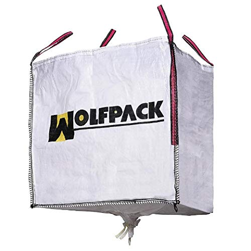 Wolfpack 2240605 Saco Obra Big Bag 90x90x90cm. con Válvula. Carga máxima seg. 1.000Kg.