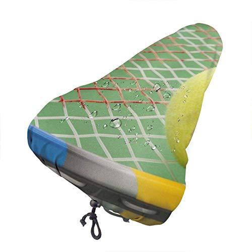 Enoqunt Tenis y Raqueta Funda Impermeable para sillín de Bicicleta Funda para Lluvia para Asiento de Bicicleta con cordón