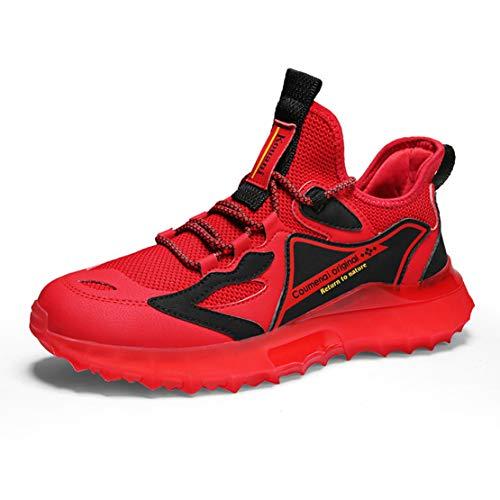 ADFD Zapatillas de Running con Amortiguación Transpirable para Hombre Calzado Deportivo Casual Suela con Tecnología de Palomitas de Maíz Adecuado para Todo Tipo de Deportes y Uso Diario,B,42