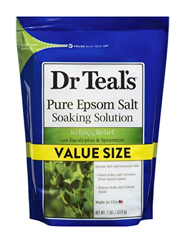 Dr Teal's Pure Epsom Salt Soaking Solution,Relax & Relief with Eucalyptus &...