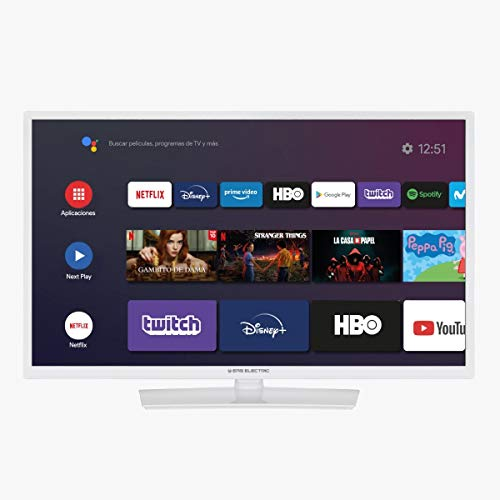 "EAS Electric | E32AN70W | Televisor Blanca | Televisión 32 Pulgadas | Smart TV 32"" | LED (ELED) | HD Ready 1366 x 768 16:9 | DVB-T/T2/C/S/S2 HEVC | WiFi | Android TV | Google Cast | USB 2 | HDMI 3"
