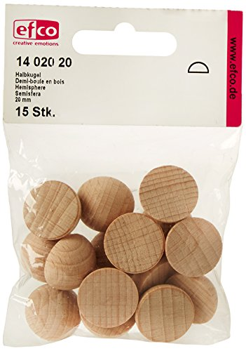 efco Halbkugel, Holz, natur, 20mm
