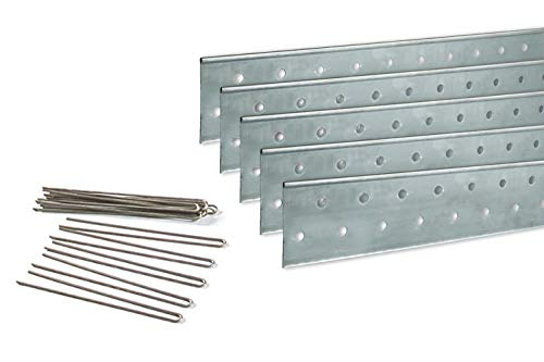 Coyote Landscape Products 637085 PerfEdge Home Kit Lawn Edging, Galvanized