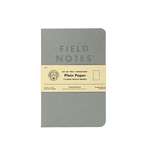"""Field notes signature series notebook 2-pack - 4. 25"""" x 6. 5"""" - 72 pages (gray with plain paper)"""