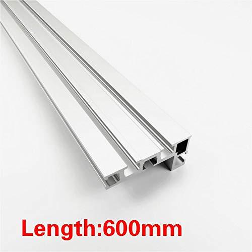 K-Fang, 600 mm / 800 mm Perfil de aluminio de 75 mm Altura de la cerca con T-pistas de deslizamiento y soportes Mitre Conector Valla Calibre for el Tratamiento de la madera ( Color : 1pc 600mm )