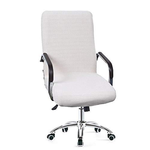 9 kleuren moderne waterdichte spandex computer stoel hoes 100% polyester elastische stof bureaustoel hoes gemakkelijk wasbaar verwijderbaar, beige, CHINA