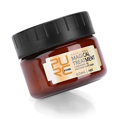 Mascarilla mágica para el cabello de 60 ml, tratamiento para el cabello con queratina Tratamiento nutritivo Mascarilla para el cabello con reparación suave y dañada para el cabello seco y dañado Raíz