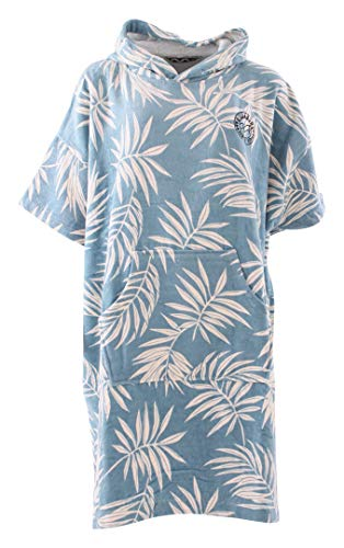 BILLABONG Womens Hooded Poncho oder Wickeltuch für Strand Wassersport & Surfen - Handtuch wechseln - Blue Palms