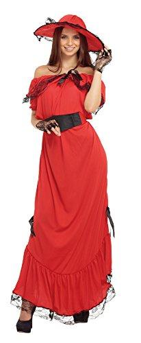 Bristol Novelty- Scarlett O'Hara Costume, AC320, Rouge, UK 10-14