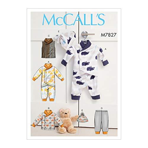 McCall Pattern Company Schnittmuster für Babywimpel, Jacke, Weste, Hose und Beanie, Größen S-XL