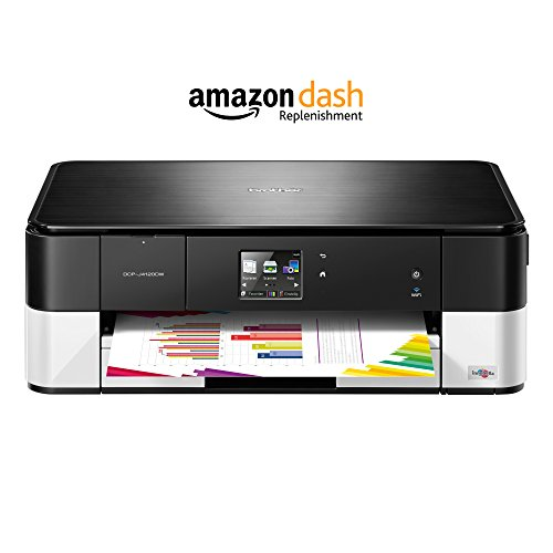 Brother DCP-J4120DW 3-in-1 Farbtintenstrahl-Multifunktionsgerät (Drucker, Scanner, Kopierer, WLAN, 6.000 x 1.200dpi, USB 2.0 Hi-Speed) schwarz/weiß mit Amazon Dash Replenishment Funktion