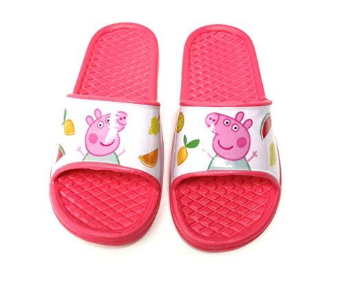 Peppa Pig - Badelatschen Sommer Hausschuhe Kinder Pantoletten Duschschuhe Badeschuhe rutschfeste Sandalen Pantoffeln Schlappen Slide Slippers Schuhe P (26/27 EU)