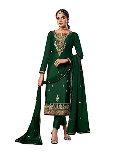 verde Punjabi Mermelada Seda Festive Formal Musulmán Churidal Pajami Recto Mujer India Salwar kameez 6279 - - XXXL