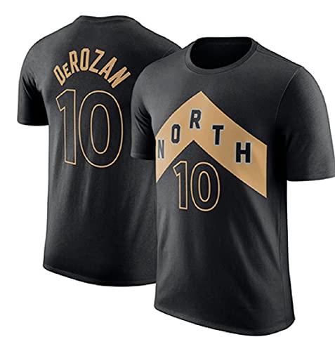 XSJY Camiseta para Hombre - Ropa De Baloncesto Raptors De La NBA # 10 Demar DeRozan Retro Cuello Redondo Jeysey, Aptitud Deportes Top Transpirable,Negro,XXXL:185~190cm