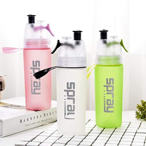 LLDSP 6 Colores Botella de Agua en Aerosol Botellas de plástico portátiles saludables Deportes Escalada al Aire Libre Ciclismo Gimnasio Utensilios de CocinaRosa