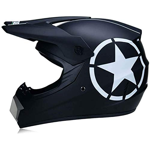 CZLWZZD Motorrad-Motocross-Helm für Erwachsene, DOT-zugelassener Vollgesichts-Crash-Motorrad-Roller Off-Road-Helme für Mann und Frau Schutzausrüstung ATV Downhill-Helme