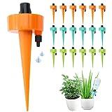 Bewässerungssystem Kit-18 Stück Automatisch Bewässerung Set Instellbar Zum Gießen von Gartenpflanzen Blumen Pflanzen für Topfpflanzen Sprinkler UrlaubsBewässerung DIY Passend für die Meisten Flaschen