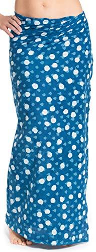 ufash Damen Sarong Lungi Pareo Rock aus Indien, traditionell handbedruckt, Unisex für Männer und Frauen. Boho Gipsy & Hippie Röcke, Blau 2