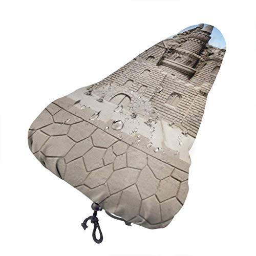 Alice Eva Soft Bike Saddle Cover Castle está Hecho de Fundas de Asiento Individuales de Arena Amarilla Fundas de Asiento Personalizadas con cordón
