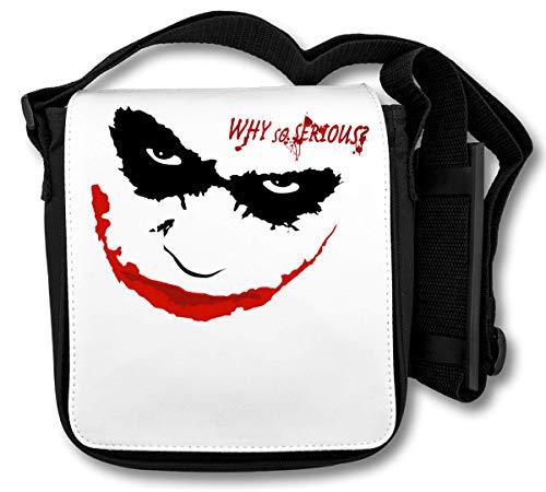 Why So Serious Joker Logo Schultertasche