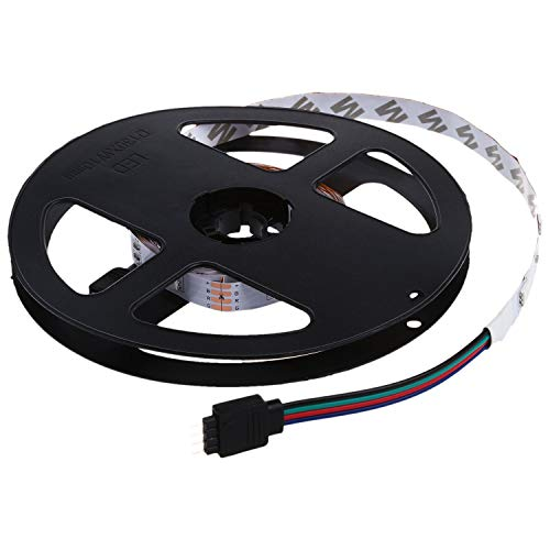 TOOGOO Tira de Tira de Tira de Luz RGB 5050 SmD de 3 Metros Banda, 30 LED No Impermeable + Control Remoto de 24 Botones