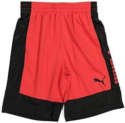 PUMA Boys' Shorts, Rebel High Risk Red, XLarge (18-20)