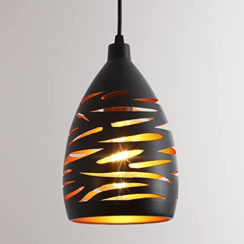 Lámpara Colgante de Techo Vintage, Industrial Luz de Techo E27, Lámpara de araña de jaula de metal hueca, 1.2M Retro Lámpara Colgante para Dormitorio Restaurante Cafetería Cocina