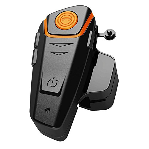 qiilu ql1000-og BT-S21000m Versión M2C auricular Bluetooth Impermeable BT casco de moto Interphone Auricular y audio de 2.5mm para Walkie Talkie GPS Manos libres MP3Player FM Radio
