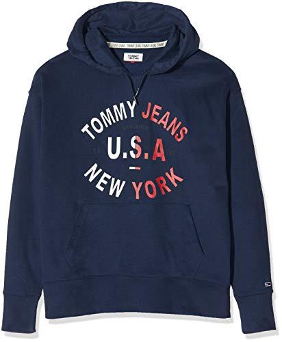 Tommy Jeans TJM Gebogen Graphic Hoodie Sweatshirt voor heren