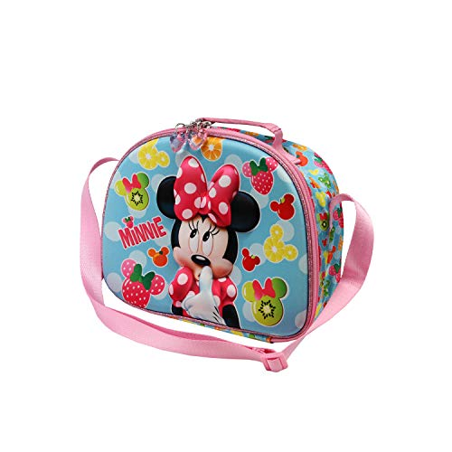 Karactermania Minnie Mouse Frutas - Bolsa Portameriendas 3D, Multicolor