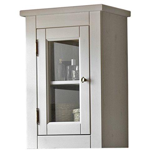 Pensile 'Romeo H' Bad armadio mobili da bagno in legno naturale Casa di Campagna Bianco