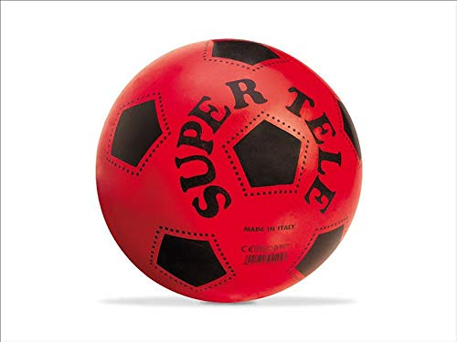 official product Mondo Toys - Pallone da Calcio SUPERTELE - per Bambina/Bambino Vari Colori a Scelta 04204… (Rosso)