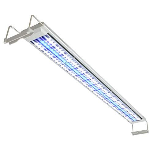 vidaXL Aquarium LED-Leuchte Aufsetzleuchte Klemmleuchte 120-130 cm Alu IP67