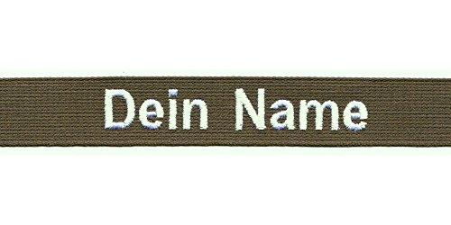 Smart Namensschild OHNE KLETT - Bestickt mit eigenem Namen/Text - diverse Farben möglich (120mm) - personalisiert