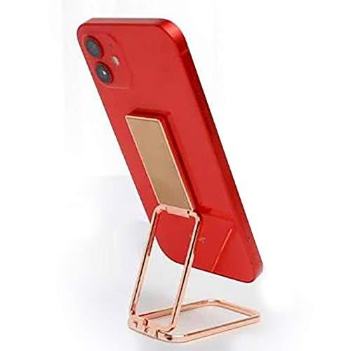 Billion Good Soporte para anillo de teléfono, soporte de dedo plegable de rotación de 360 ° para iPhone, iPad, tabletas o soporte magnético para coche, color oro rosa