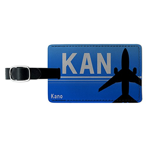 Kano Nigeria (KAN) Airport Code Leather Luggage ID Tag Suitcase Carry-On