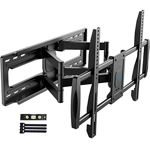 "PERLESMITH TV Wall Mount Bracket Full Motion - Fits 16"", 18"" or 24"" Studs - for Most 50-90 Inch Flat Curved LED LCD OLED 4K TVs up to 165lbs Max VESA 800x400mm, 23.62"" Extension - PSXFK1"