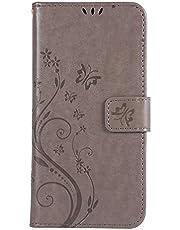 Tosim Galaxy A7 2018 ケース 手帳型 カード収納 高級PUレザー スタンド機能 マグネット ギャラクシーA7 財布型 ケース スマホケース 全面保護 衝撃吸収 スマホカバー - TOGHU060076 グレー