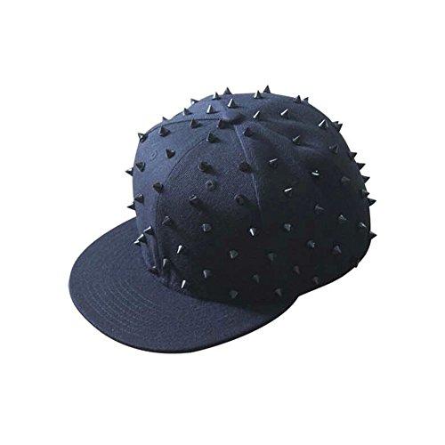 Velvet Fashion Casquette de baseball ajustable Chapeau chaud d'hiver Chapeau classique, bleu marine