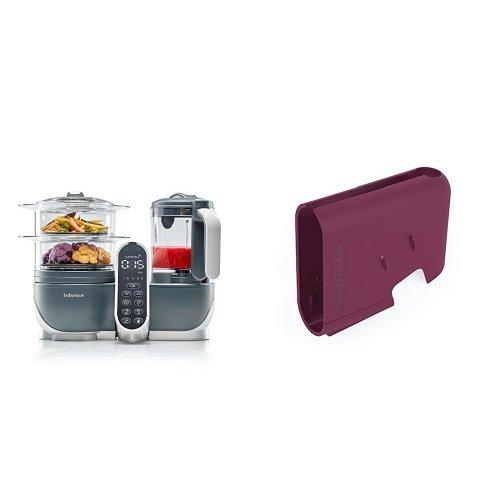 Babymoov Nutribaby (+) industrial grey - Multifunktions Küchenmachine + Babymoov Displaygehäuse Nutribaby (+) cherry