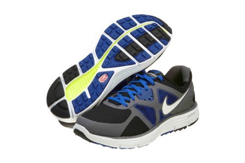 Nike Lunarglide 3 Big Kids GS Running Wolf Grey Platinum Orange White (GS) (5.5)