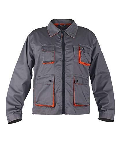 Stenso Desman® - Chaqueta de Trabajo Multiusos para Hombre - Gris/Naranja 62