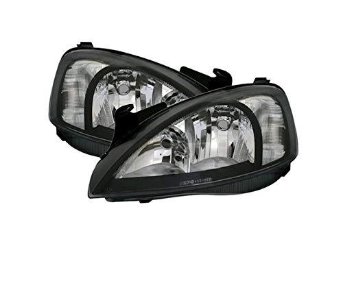 V-MAXZONE VP165 Jeu de phares en verre transparent Noir Droit