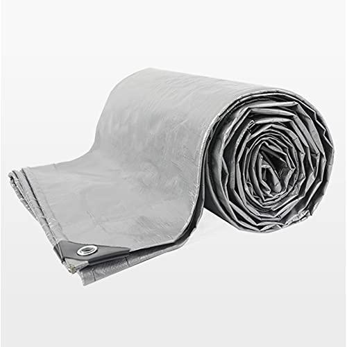 AWSAD Exterior Espesar Lonas Proteccion Solar Aislamiento Térmico Paño Impermeable Cubierta A Prueba de Lluvia para Carro Depósito Invernadero, 25 Tamaños (Color : Silver, Size : 15x20m)