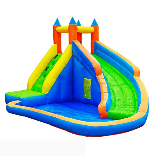 Bouncy Castles Children's Inflatable Castle Small Household Children's Slide Children's Playground Inflatable Trampoline Outdoor Toy Rock Climbing Inflatable Castle Children's Toys