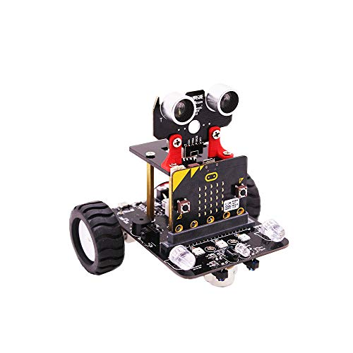HARTI Micro: Bit Smart Car Roboter Kit, Programmierbares Tanzroboter Kit Für Arduino Nano Electronic Toy/Support Android App Control (Nicht Microbit V2 Board)