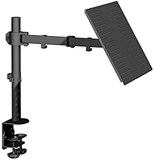 Mountify Laptop Tray Desk Mount for 1 Laptop or Notebook up to 17 inch| Fully Adjustable | 22 lbs Capacity | Vented Coolin...