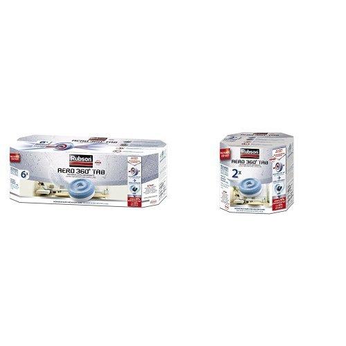 Rubson Recharge pour absorbeur d'humidité AERO 360° : 6 recharges + 2 recharges offertes : ( soit 8 recharges de 450 gr)