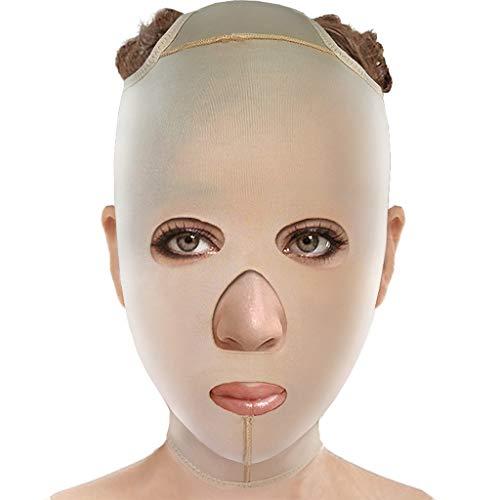ChenCheng Minceur V-Face Masque Après Carving Fil, Serrage et Serrage Motif Décret Double Menton Sommeil élastique Bandage Beauté -jugulaire (Size : X