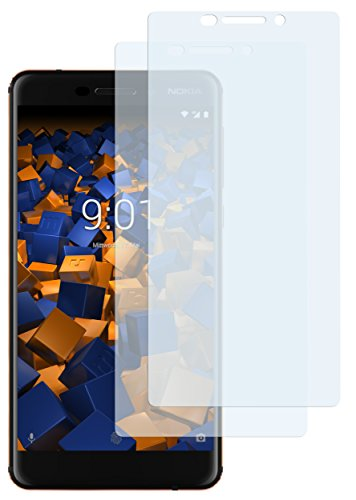 mumbi Schutzfolie kompatibel mit Nokia 6 2018 Folie klar, Bildschirmschutzfolie (2X)